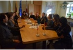 The Mayor of Panevėžys City met the Guests of Youth Day Care Centre from Italy